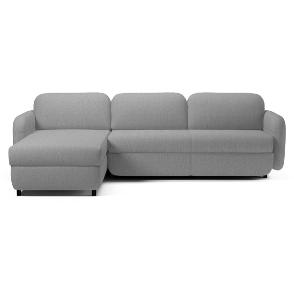 Attractive Fluffy 3 Seater Sofa Bed W/ Chaise Longue