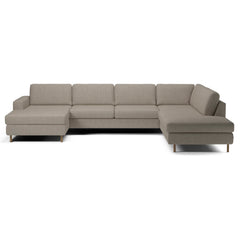 Scandinavia 5 Seater Corner Sofa w/ Open End and Chaise Longue