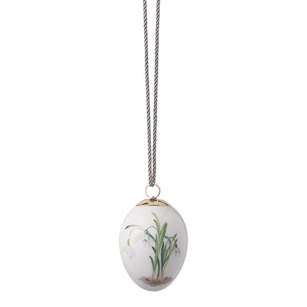 "2021 Spring Collection Easter Egg - Snowdrop / Small: 1.75"" W x 1.75"" D x 2.5"" H - Outlet"