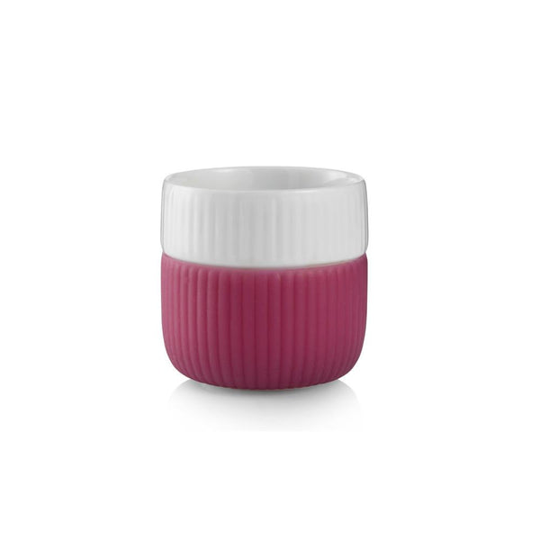 Royal Copenhagen Fluted Contrast Espresso Cup - Raspberry