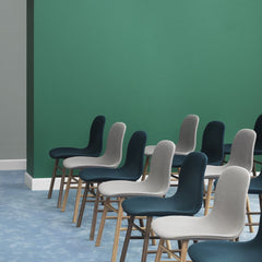 Form Chair - Wood Legs, Fully Upholstered