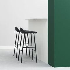 Form Barstool - Steel Legs, Fully Upholstered