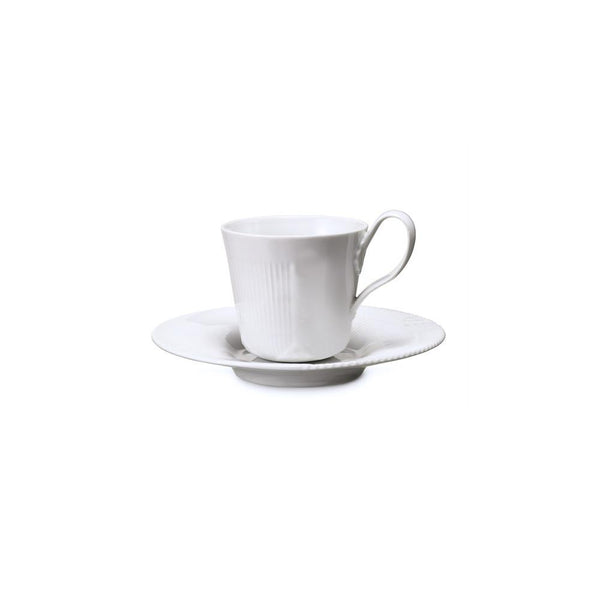 Royal Copenhagen White Elements Cup & Saucer