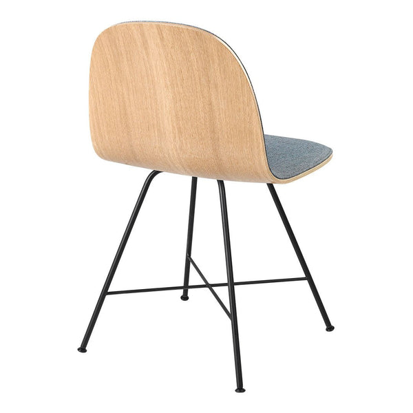 Gubi 2D Dining Chair - Center Base - Front Upholstered