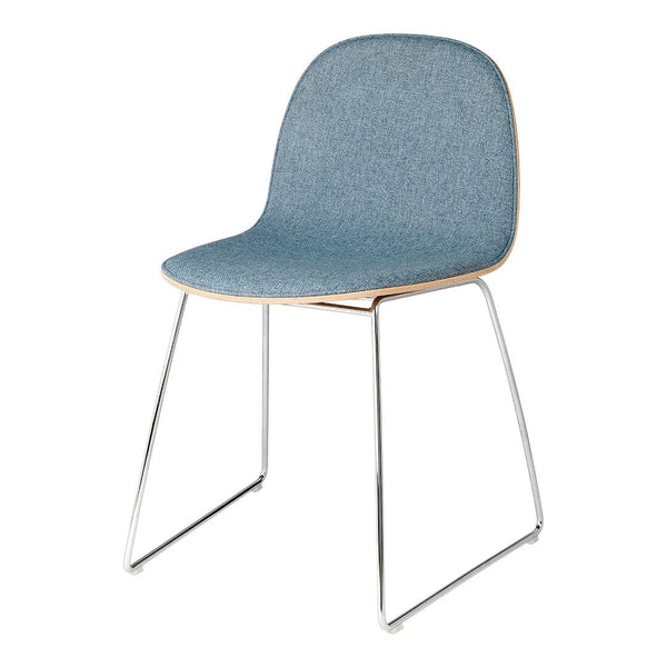 Gubi 2D Dining Chair - Sledge Base - Front Upholstered
