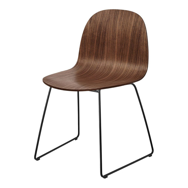 Gubi 2D Dining Chair - Sledge Base