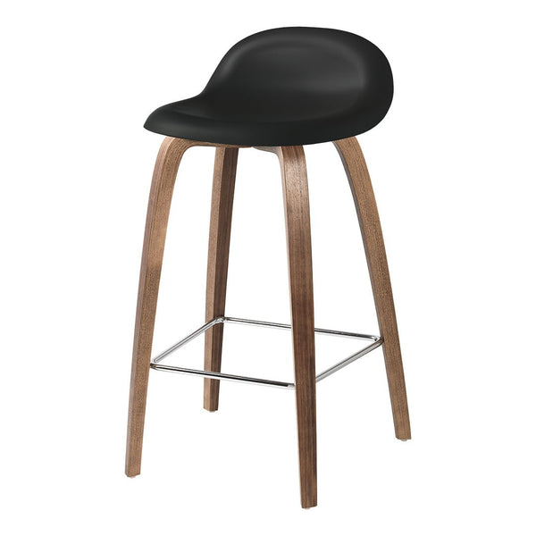 Gubi 3D Counter Stool - Wood Base