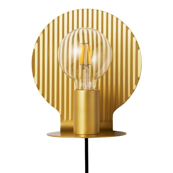 Plate Wall Lamp - Gold - Overstock