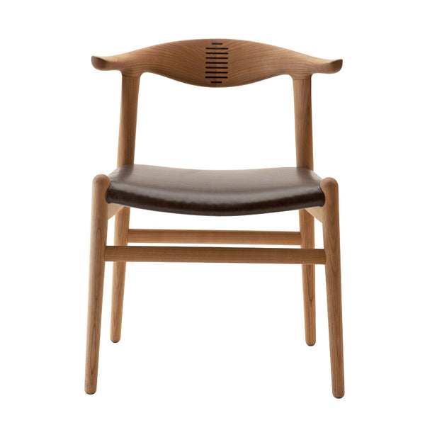 Wegner PP505 Cow Horn Chair - Upholstered
