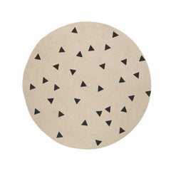 ferm LIVING Round Carpet - Triangles