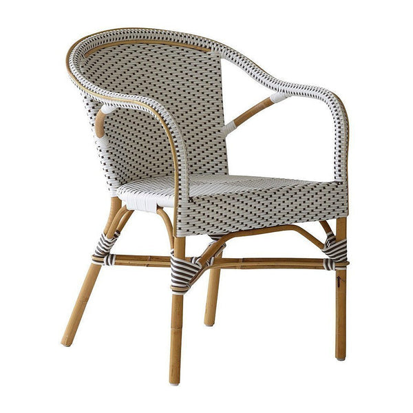 Madeleine Dining Chair - White w/ Cappuccino Dots / B448 / Indoor - Outlet