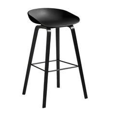 About A Bar Stool Wood Base / Solid Seat (AAS32)