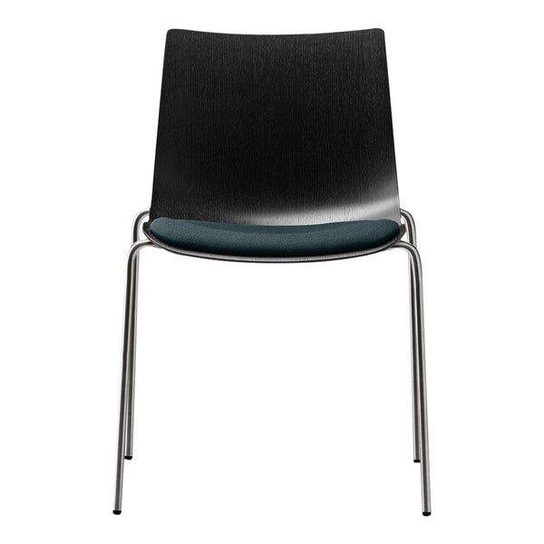 BA002S Preludia Chair - 4-Legs Chrome - Seat Upholstered