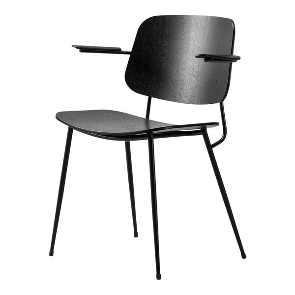 Fredericia Furniture Soborg Armchair Steel Frame By