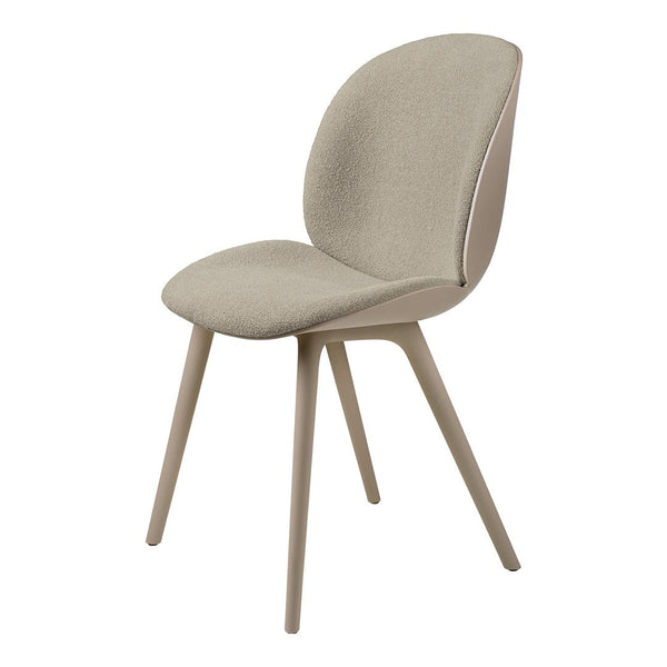 Beetle Dining Chair - Front Upholstered - Plastic Base, Monochrome
