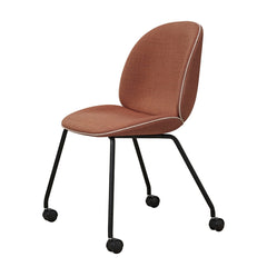 Beetle Dining Chair - Castor Base - Fully Upholstered