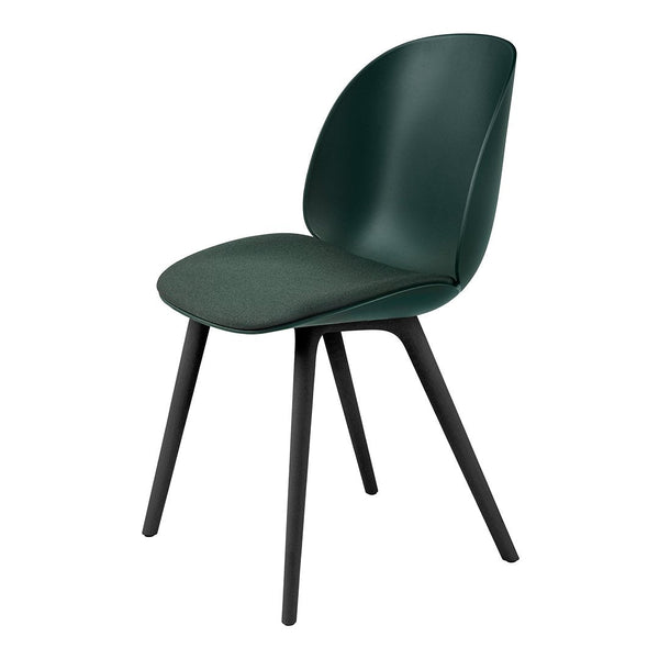 Beetle Dining Chair - Seat Upholstered - Black Plastic Base