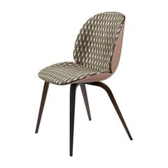 Beetle Dining Chair - Wood Base - Front Upholstered