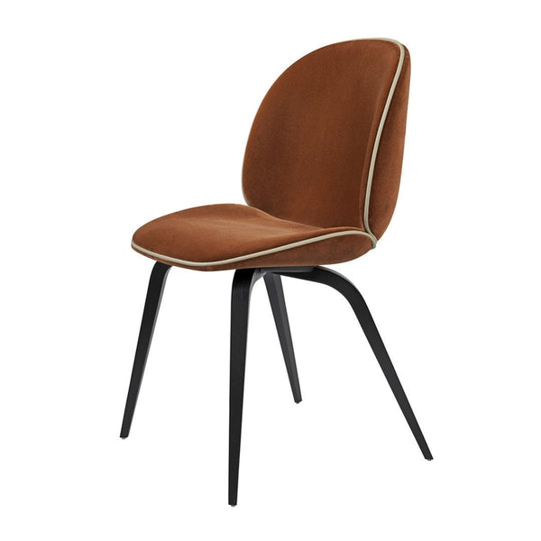 Beetle Dining Chair   Wood Base   Fully Upholstered