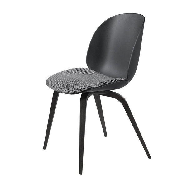 Beetle Dining Chair - Wood Base - Seat Upholstered