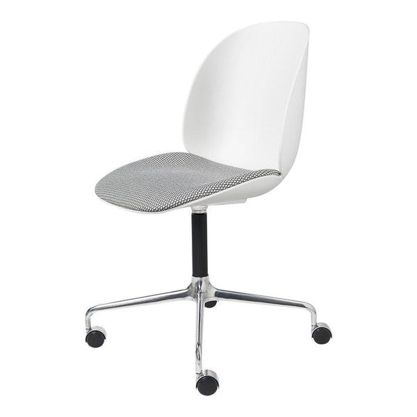 Beetle Meeting Chair - 4-Star Base w/ Castors - Seat Upholstered