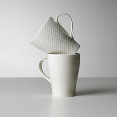 Blond Mugs & Saucers - Mug / White Stripe - Outlet