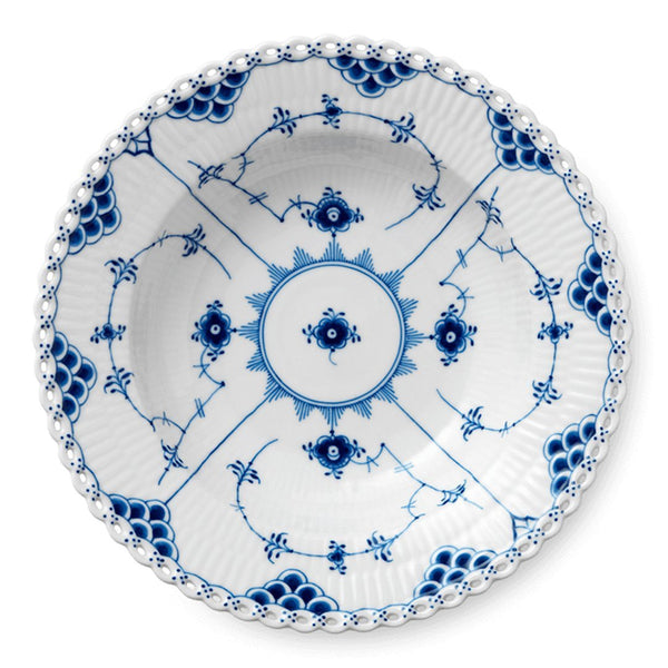 Blue Fluted Full Lace Bowls