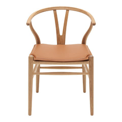 CH24 Wishbone Chair Leather Seat Cushion