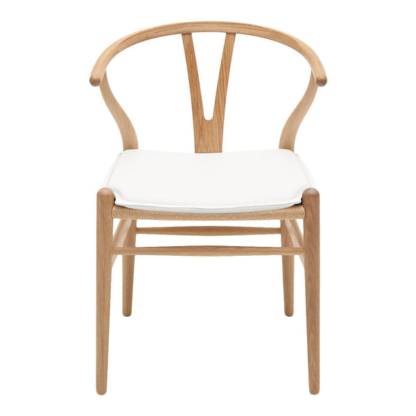 Awesome ... CH24 Wishbone Chair Leather Seat Cushion ...