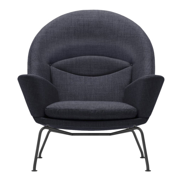 Wegner Oculus Chair - CH468 - Fiord 191 - Black Powder-Coated Base