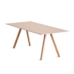 Copenhague Table CPH30 - Oak Veneer / Oak - Matt Lacquered / 78.75 x 35.4 x 29 in - Outlet