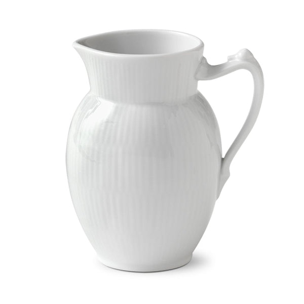 White Fluted Plain Creamer