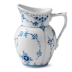 Blue Fluted Half Lace Creamer