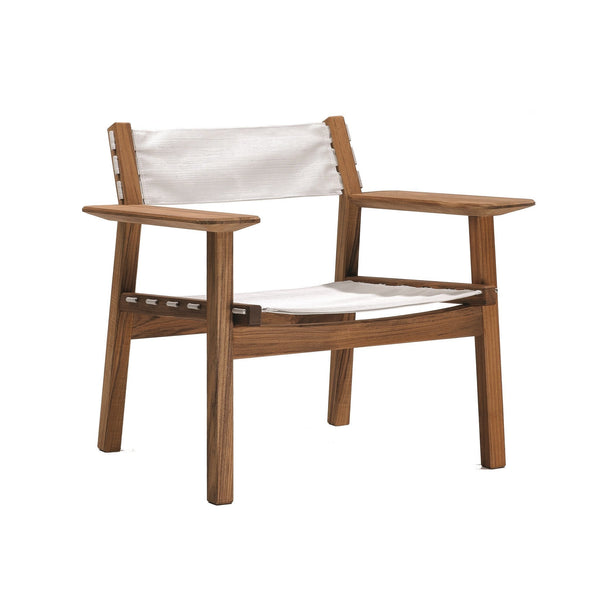 Djuro Lounge Armchair - Teak and Fabric