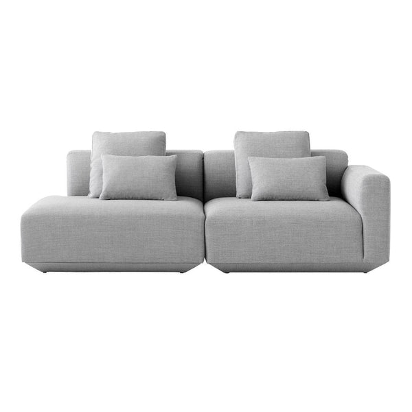 Develius Models G & H - 2-Seater Sofa w/ Open End