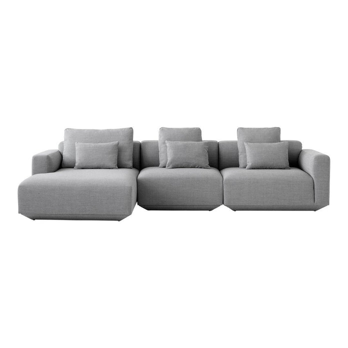 Fabulous Develius 2 Seater W Chaise Sectional Sofa Bralicious Painted Fabric Chair Ideas Braliciousco