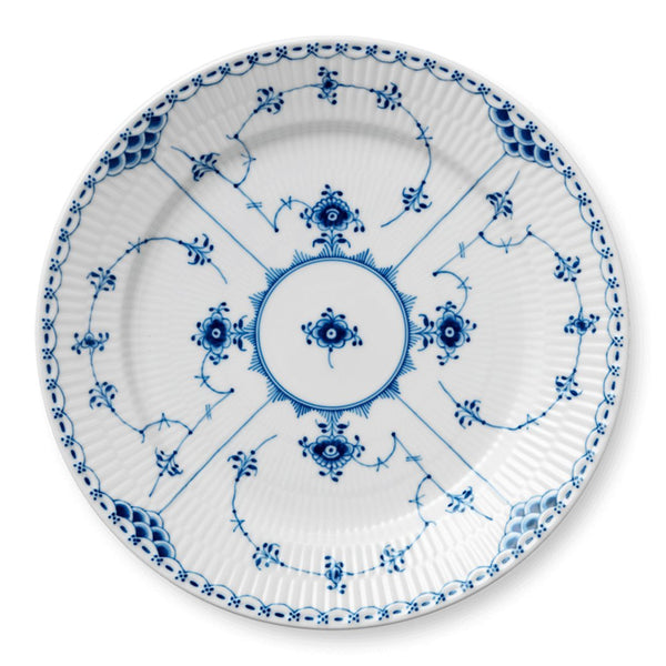 Blue Fluted Half Lace Plates