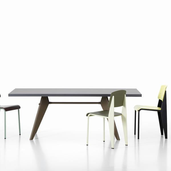 Vitra Em Table In Solid Wood By Jean Prouve Danish Design Store