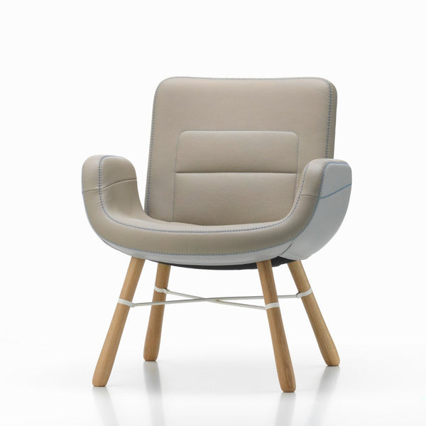 East River Lounge Chair - Leather Mix