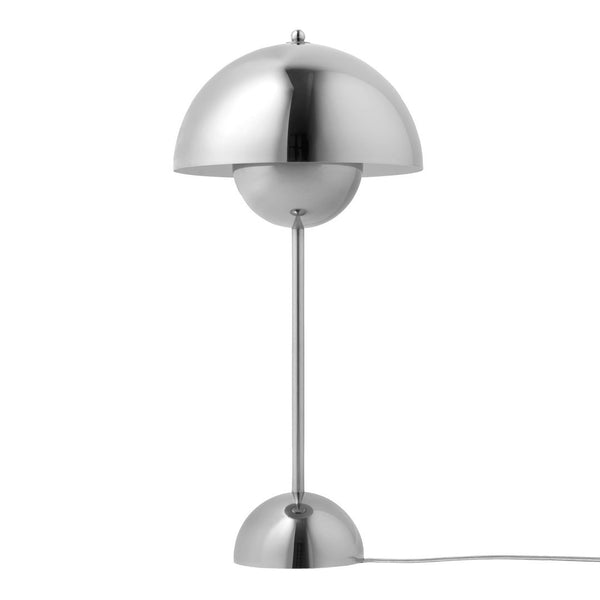 Verner Panton VP3 Flowerpot Table Lamp - Polished Stainless Steel - Outlet