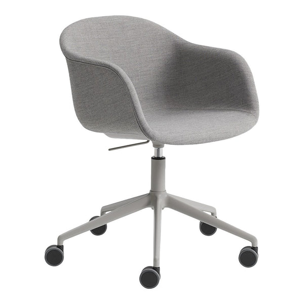 Fiber Armchair - Swivel Base w/ Castors & Gas Lift - Fully Upholstered
