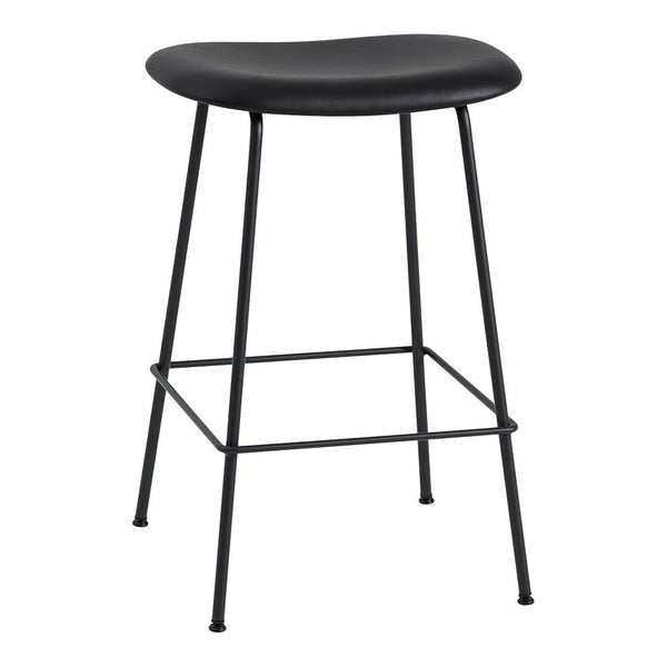 "Fiber Bar Stool - Tube Base - Upholstered - Counter Height (25.6"" H)"