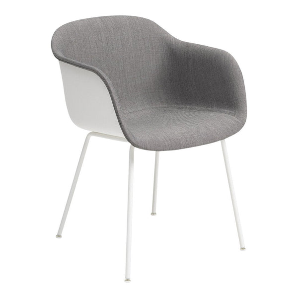 Fiber Armchair - Tube Base -  Front Upholstered