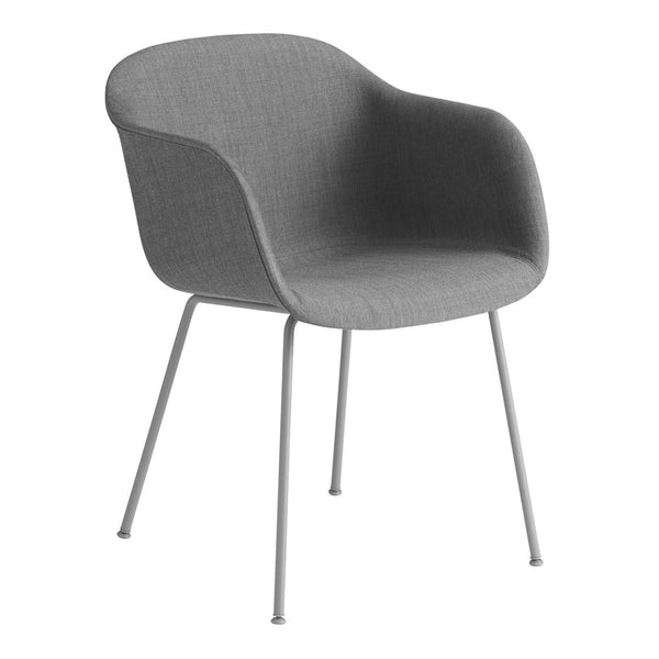 Fiber Armchair - Tube Base -  Fully Upholstered