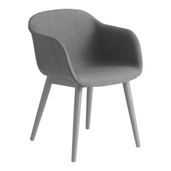 Fiber Chair - Wood Base, Fully Upholstered