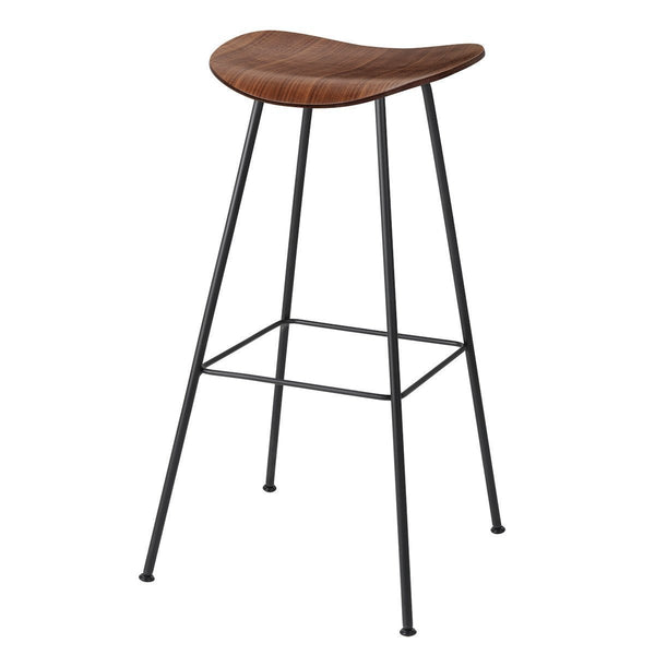 Gubi 2D Barstool - Center Base - Wood Veneer