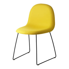 Gubi 3D Dining Chair - Sledge Base - Fully Upholstered