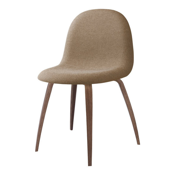 Gubi 3D Dining Chair - Wood Base - Fully Upholstered