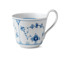 Blue Fluted Plain High Handle Mug