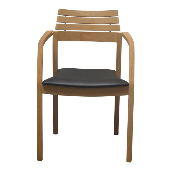 Preben Chair - Oak, Black Leather Seat - Outlet